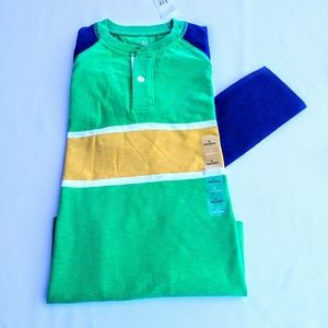 GAP KIDS LONG SLEEVE HENLEY SHIRT.SIZE LARGE